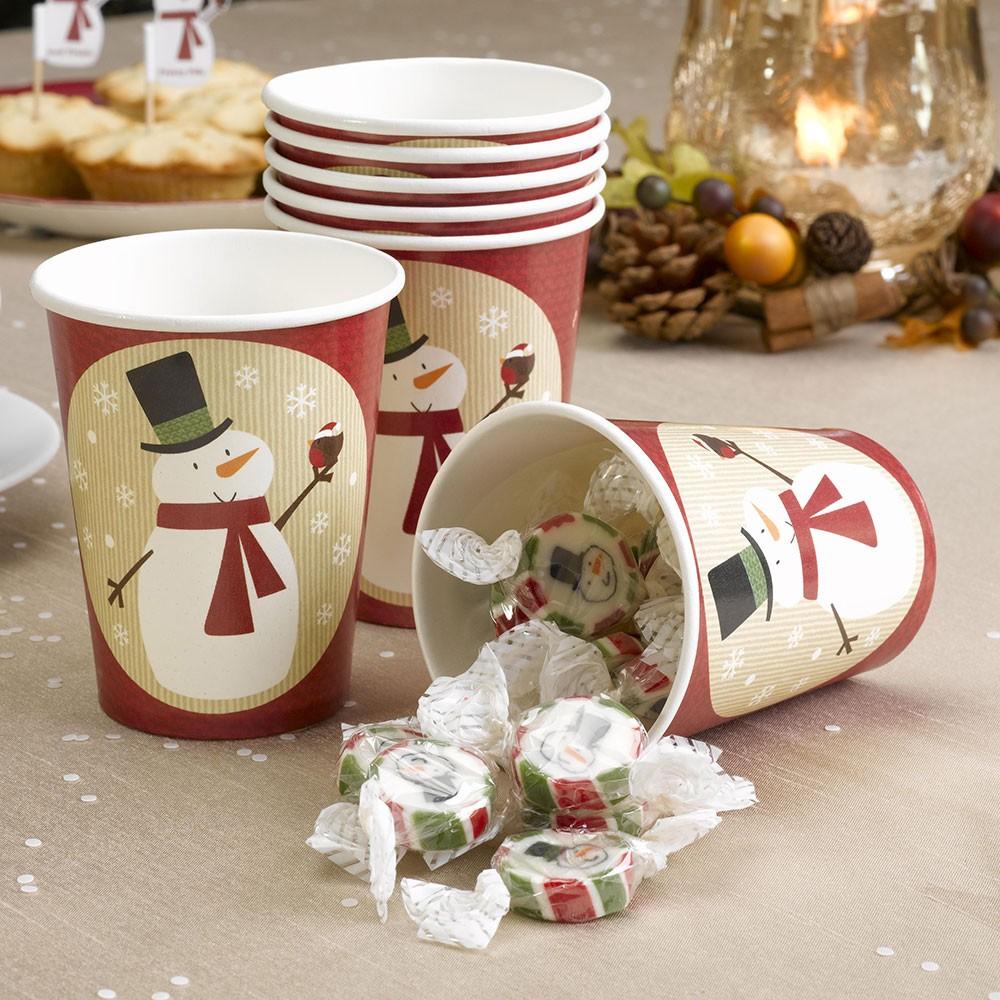 pappbecher weihnachten schneemann 8 st ck sonstiges advent. Black Bedroom Furniture Sets. Home Design Ideas